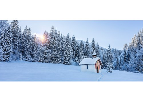 Kapelle in der Elmau bei Klais, Oberbayern, Bayern, Deutschland
