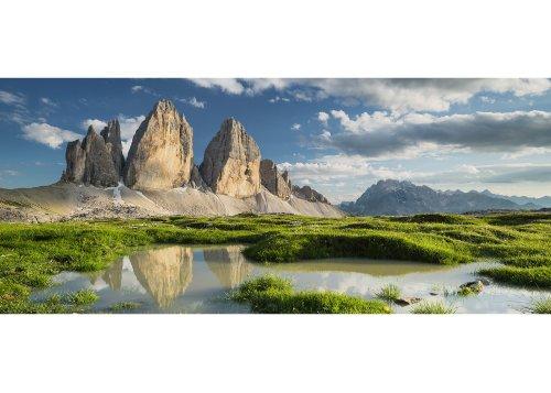 Nordwände der Drei Zinnen (2999m), Sextner Dolomiten, Trentino-Südtirol, Italien