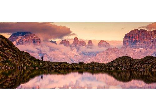 Seespieglung Lago Nero mit Blick auf das Brenta Gebirge