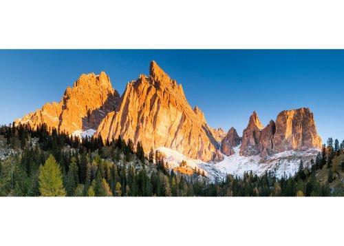Blick zur Cristallogruppe, Cortina d'Ampezzo, Provinz Belluno